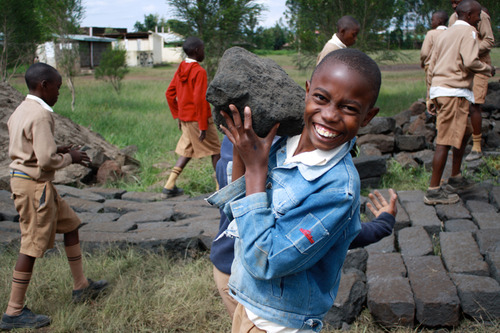 Building Classrooms at Nakuru Children's Project Kenya