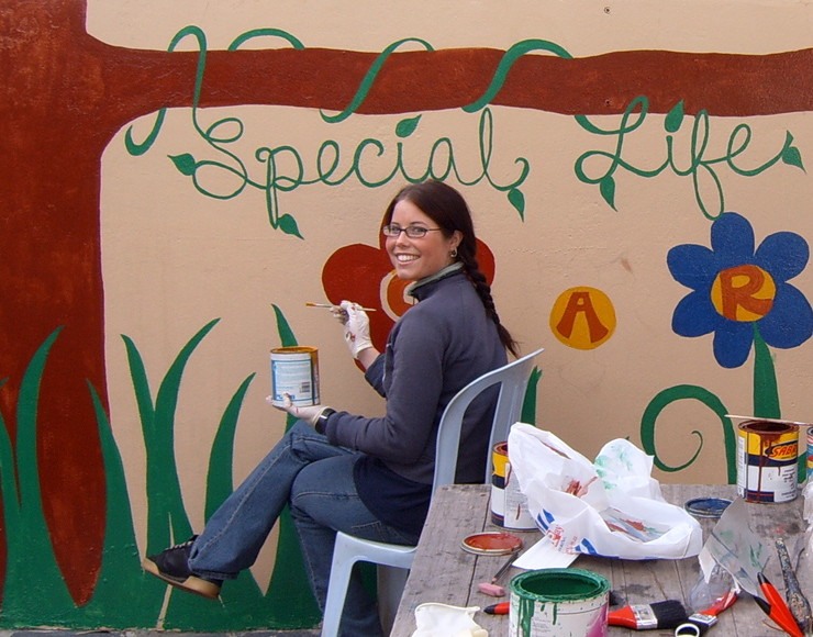 Painting at Care Work Project South Africa