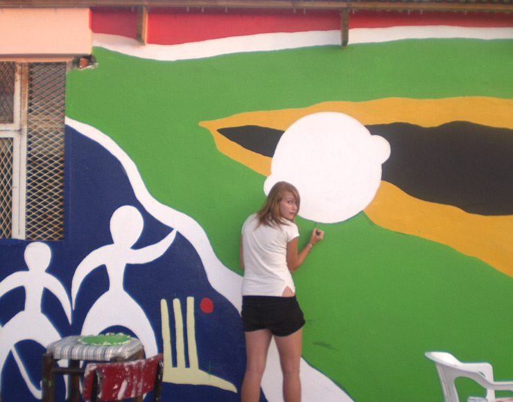 Painting at Care Work Project in South Africa