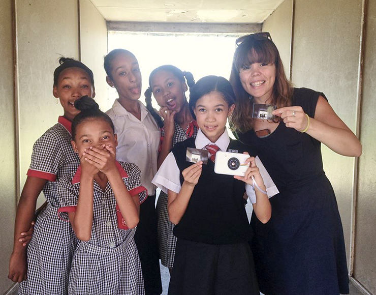 Amy with Photography Students