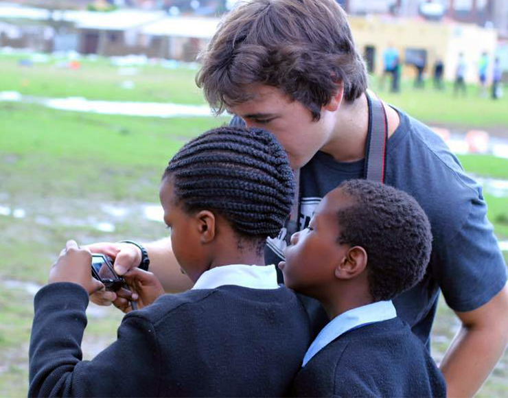 James with Photography Students - South Africa