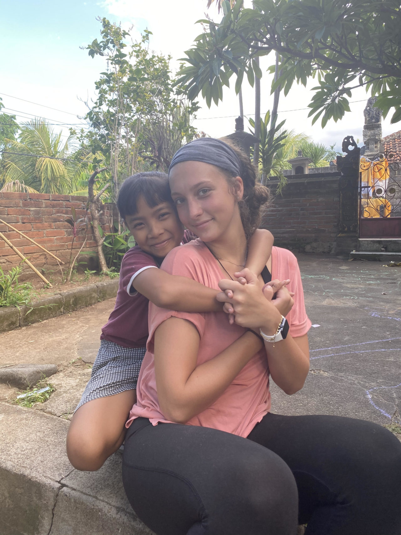 Bonding with the children in Bali